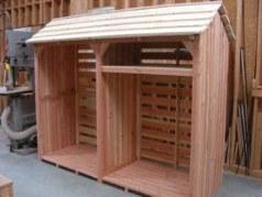 Style C Log store with kindling shelf